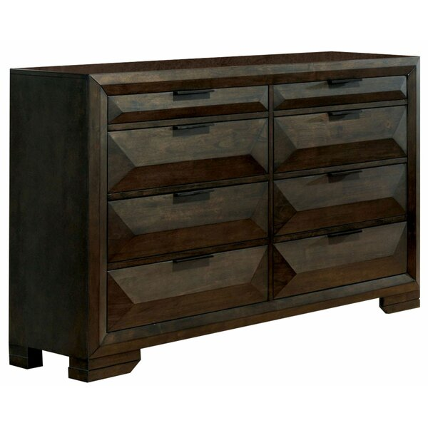 Stacie Wooden 8 Drawer Double Dresser by Millwood Pines