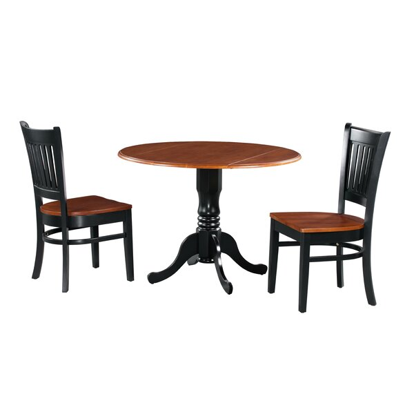 Shorewood 3 Piece Drop Leaf Solid Wood Dining Set By August Grove Best Design