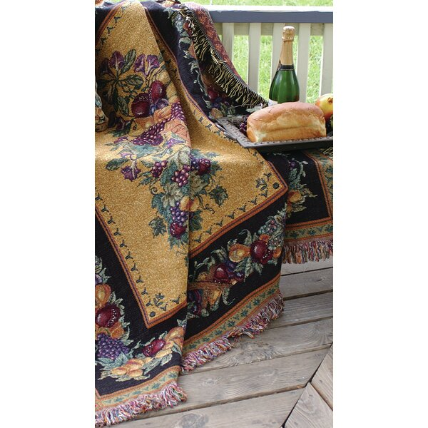 Old World Italy Tapestry Cotton Throw by Manual Woodworkers & Weavers
