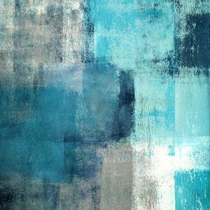 'Meditation In Blue' Painting Print on Wrapped Canvas by Marmont Hill