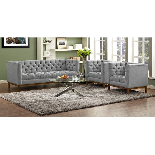 Dunaway 3 Piece Living Room Set by Darby Home Co