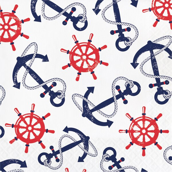 Anchors Away 6.5 Napkin (Set of 48) by Creative Co
