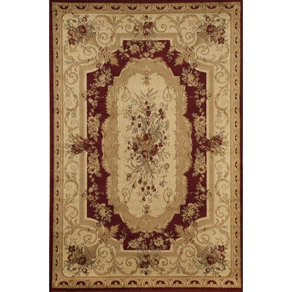 Berghoff Red/Ivory Area Rug by Threadbind