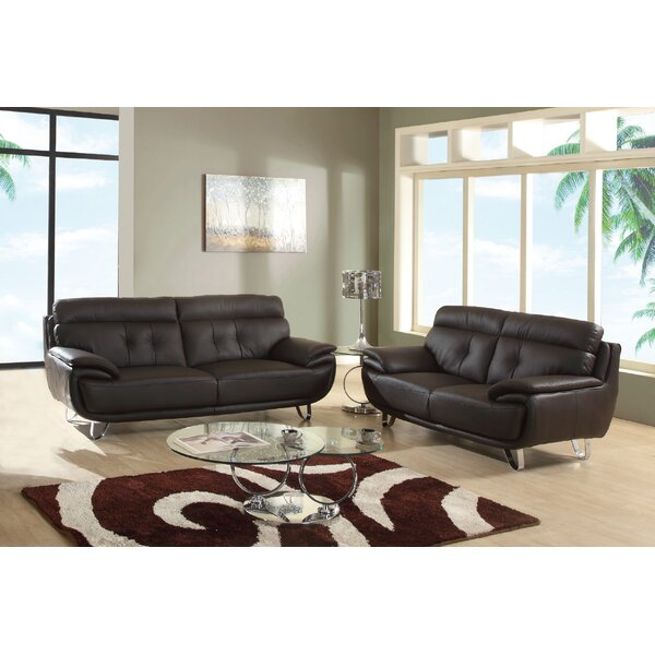Boden Leather 2 Piece Living Room Set (Set of 2) by Latitude Run