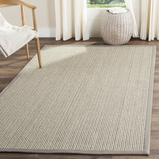Wickline Handwoven Gray Beige Area Rug