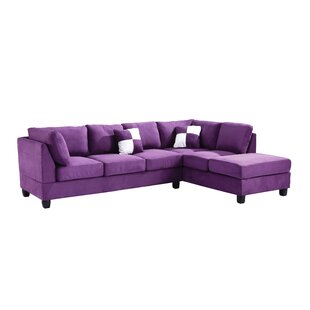 Elegant Chaise Sofa Purple Sectionals