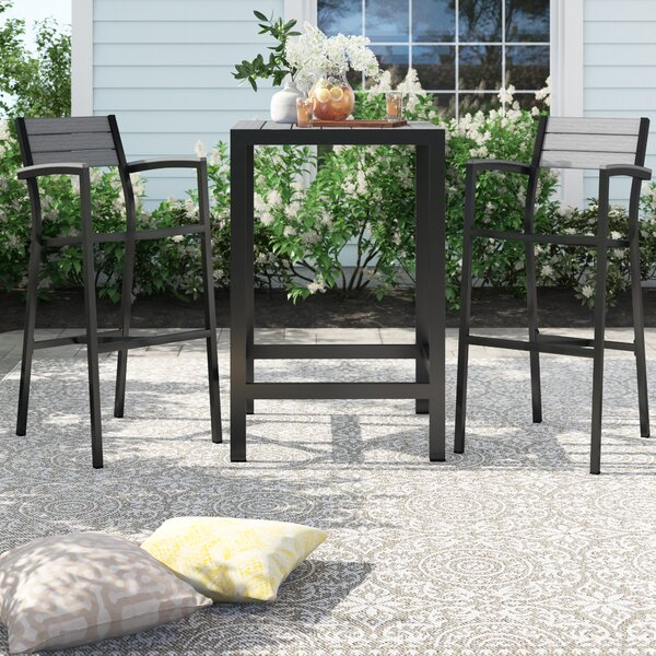 Windsor 3 Piece Bar Height Dining Set By Sol 72 Outdoor