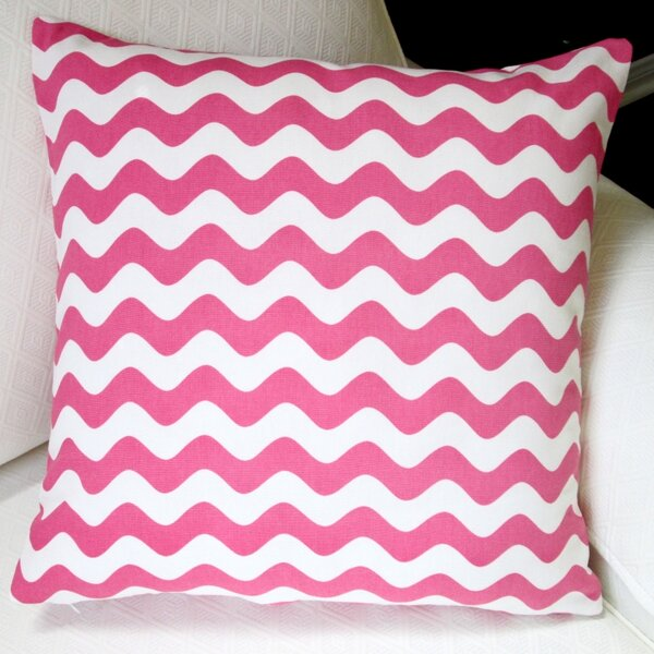 Wave Indoor Cotton Canvas Pillow Cover by Artisan Pillows
