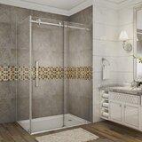 Moselle 48 x 75 Single Sliding Frameless Shower Door byAston