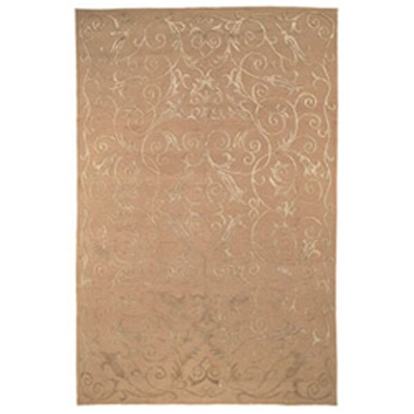 Honora Tibetan Hand Knotted Silk/Wool Beige Area Rug by House of Hampton
