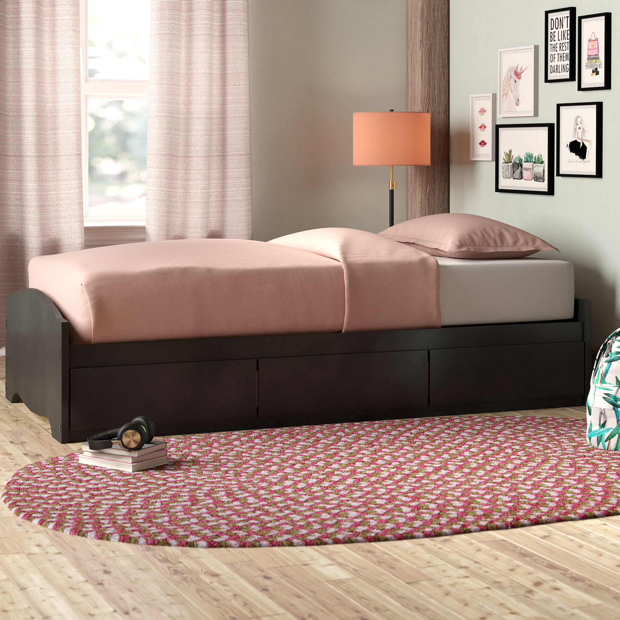 Harriet Bee Nolanville Extra Long Twin Mate's & Captain's Bed with