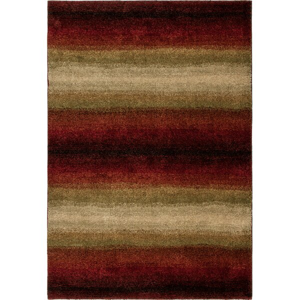 Connection Lava Skyline Red/Brown Area Rug by The Conestoga Trading Co.