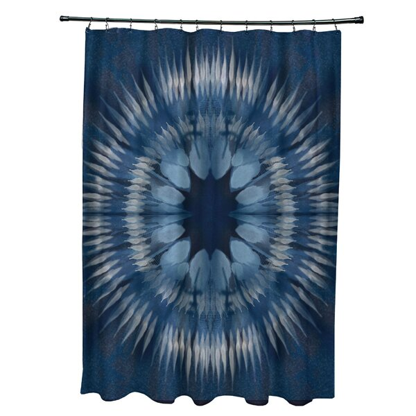 Armstrong Shibori Burst Shower Curtain by Bungalow Rose
