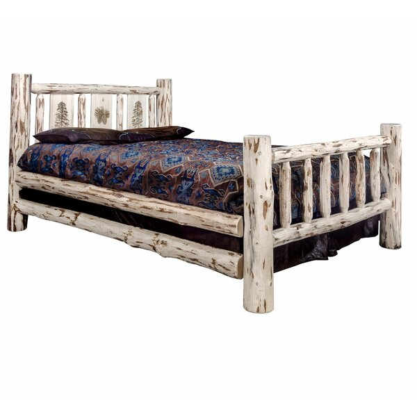 Antigo Laser Engraved Pine Tree Standard Bed by Millwood Pines