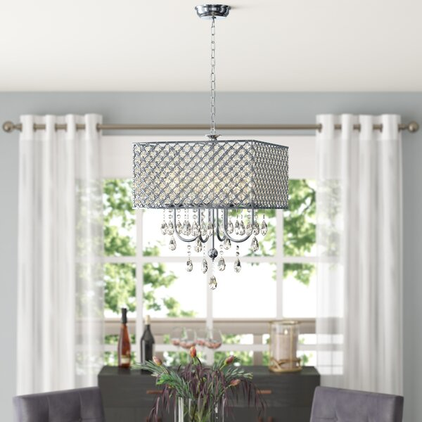 Holford 4-Light Candle Style Rectangle / Square Chandelier by House of Hampton House of Hampton