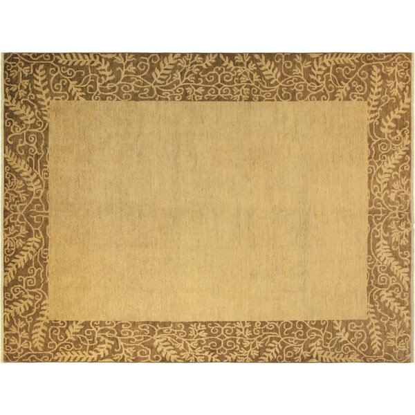 Alpert Hand-Knotted Wool Gold/Brown Area Rug by Red Barrel Studio