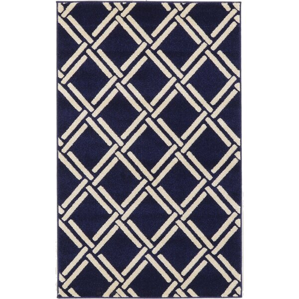 Storyvale Navy Blue Area Rug by Beachcrest Home