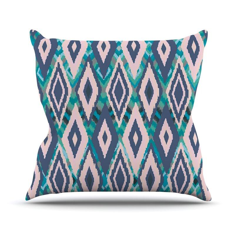 East Urban Home Ikat Outdoor Throw Pillow Reviews Wayfair