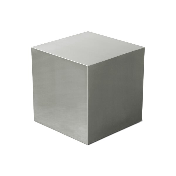 Stainless Steel Cube End Table by Gus* Modern
