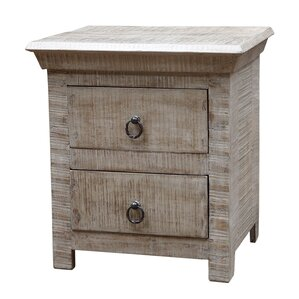 Troy 2 Drawer Nightstand by MOTI Furniture