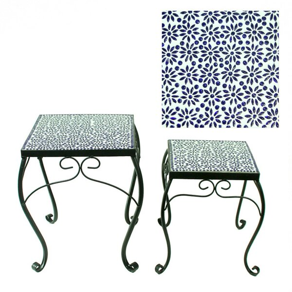 Grabowski 2 Piece Metal Planter Stand by Fleur De Lis Living
