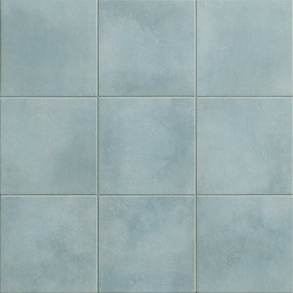 Poetic License 6 x 6 Porcelain Field Tile in Baby Blue by PIXL