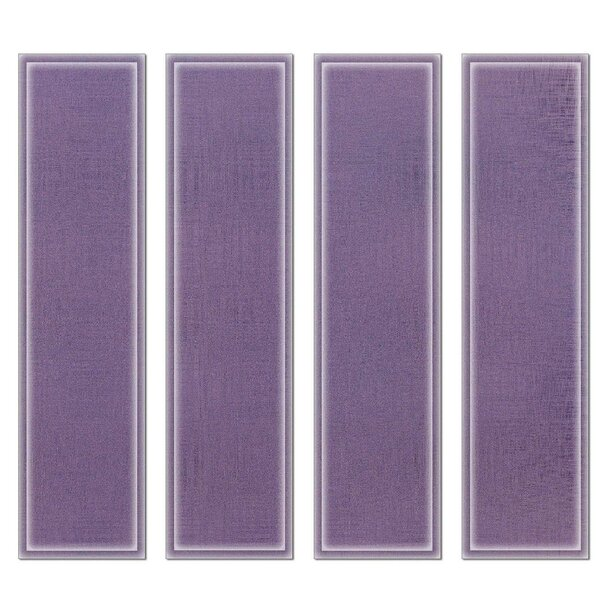Crystal 3 x 12 Beveled Glass Subway Tile in Violet by Upscale Designs by EMA