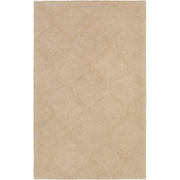Bloch Hand-Tufted Beige Area Rug by Wrought Studio