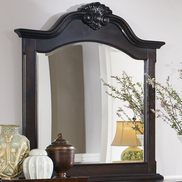 Gilmer Crowned Top Mirror by Astoria Grand