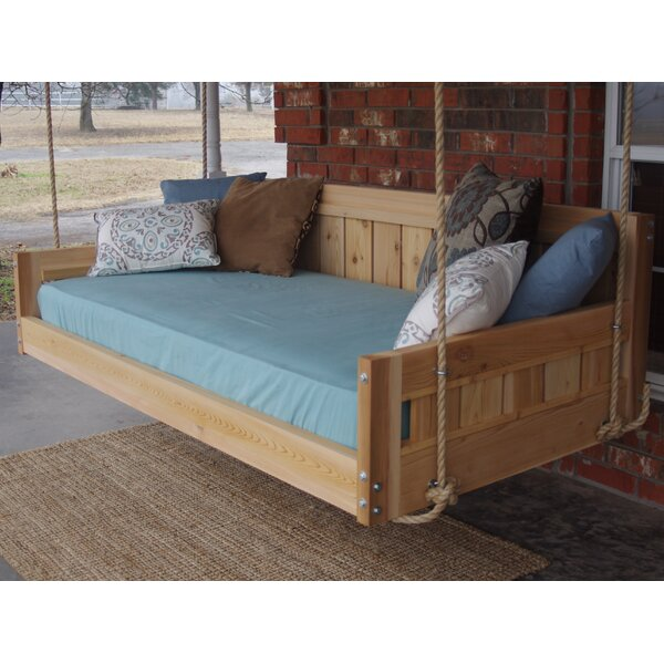 Conyers Hanging Daybed Rope Porch Swing by Millwood Pines