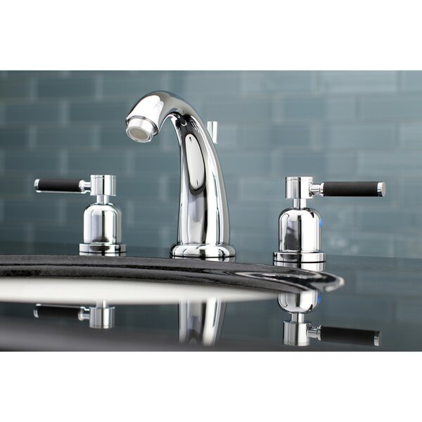 Kaiser Widespread Bathroom Faucet With Drain Assembly By Kingston Brass