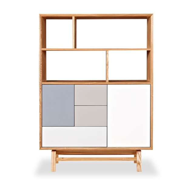 Mid-Century Modern 3 Drawer 2 Door Platform Upright Accent Cabinet by Kardiel