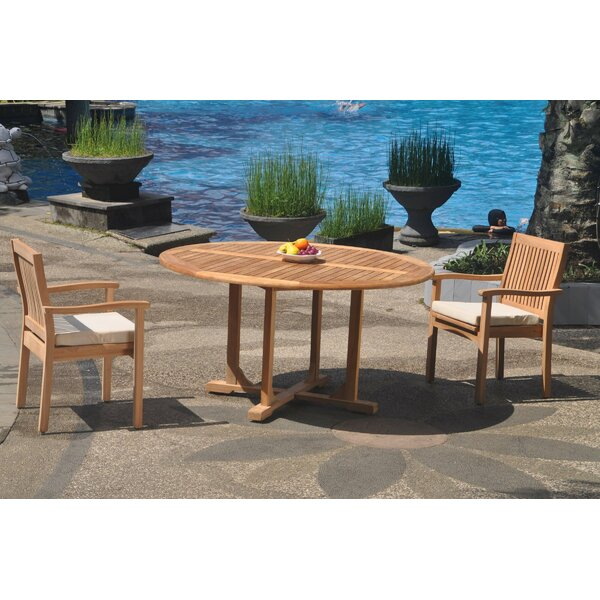 Oakhur 3 Piece Teak Bistro Set by Rosecliff Heights