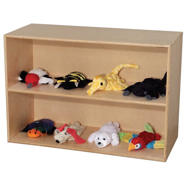 Modular 2 Compartment Shelving Unit by Wood Designs