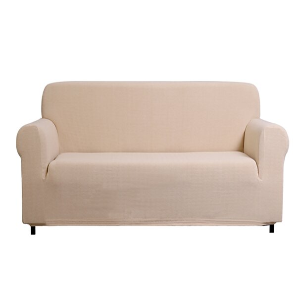 Box Cushion Loveseat Slipcover By Freeport Park