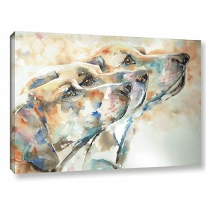 Dogs Painting Print on Wrapped Canvas by Latitude Run