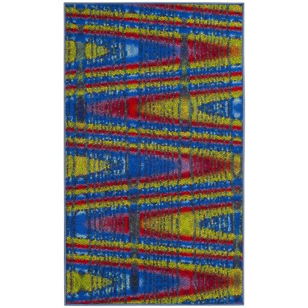 Zavala Blue Area Rug by Ebern Designs