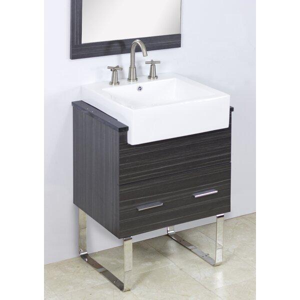 Mulberry Wall Mount 23 Single Bathroom Plywood Vanity Set by Royal Purple Bath Kitchen