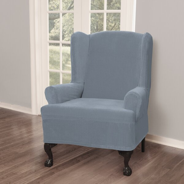 Compare Price T-Cushion Wingback Slipcover