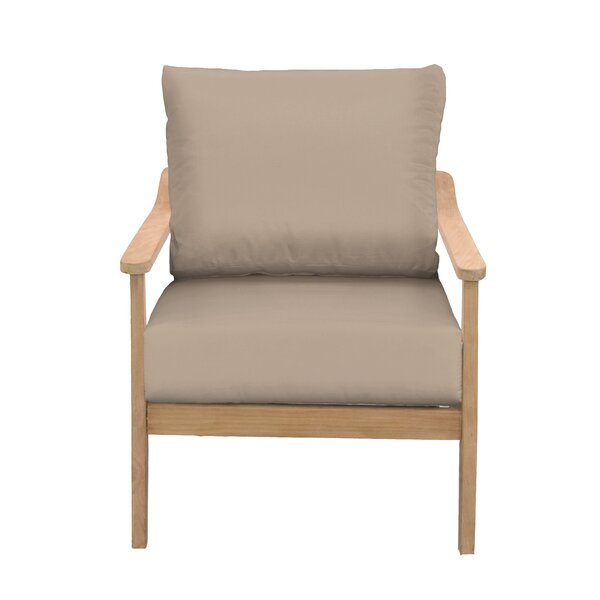 Alta Teak Patio Chair with Sunbrella Cushions by Union Rustic