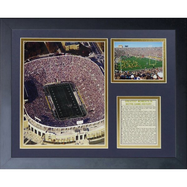 Notre Dame Stadium Framed Memorabilia by Legends Never Die