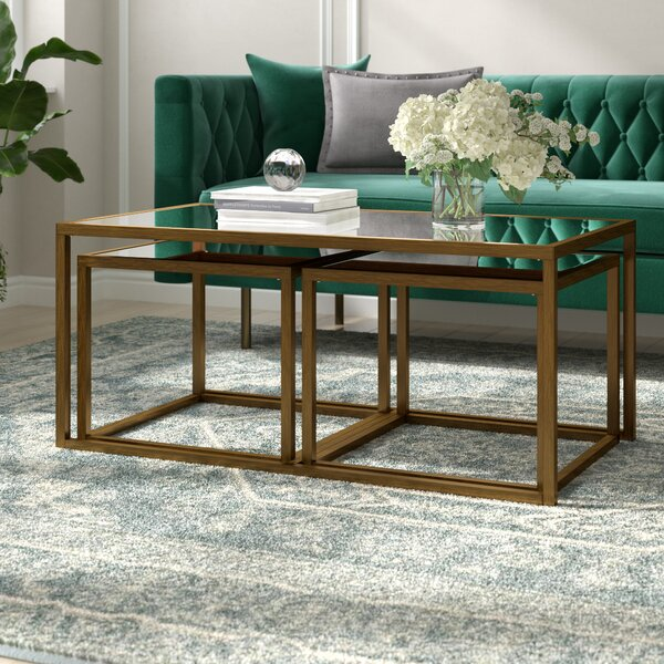 Alvis 3 Piece Coffee Table Set by Willa Arlo Interiors