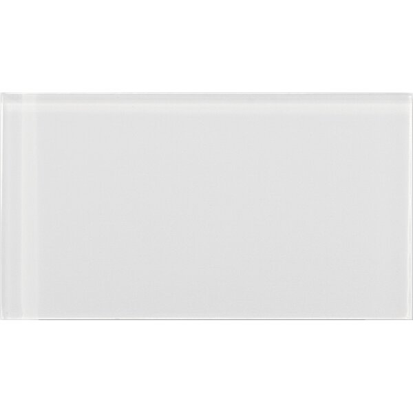 Lucente 3 x 6 Glass Subway Tile in Blanc by Emser Tile