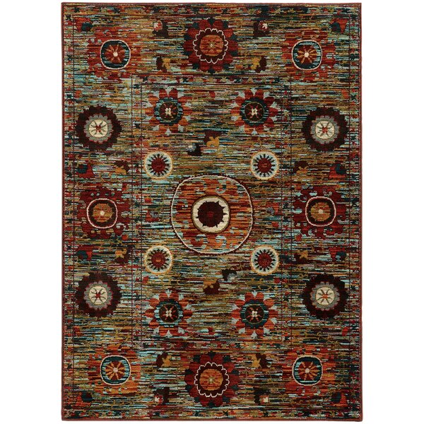Buy Aydan Tribal Redgreen Area Rug By Bungalow Rose Review