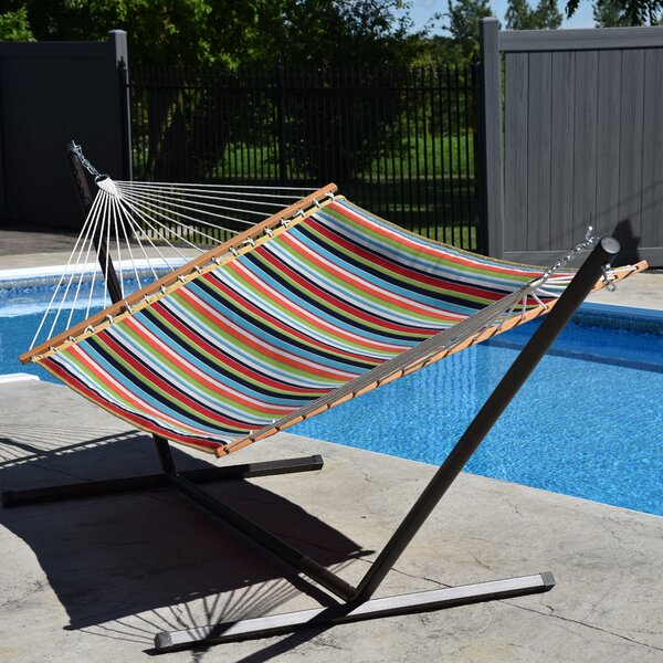 Tullis Sunbrella Quilted Double Spreader Bar Hammock by Highland Dunes