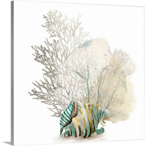 'Coral II' by Aimee Wilson Graphic Art Print on Canvas by Great Big Canvas