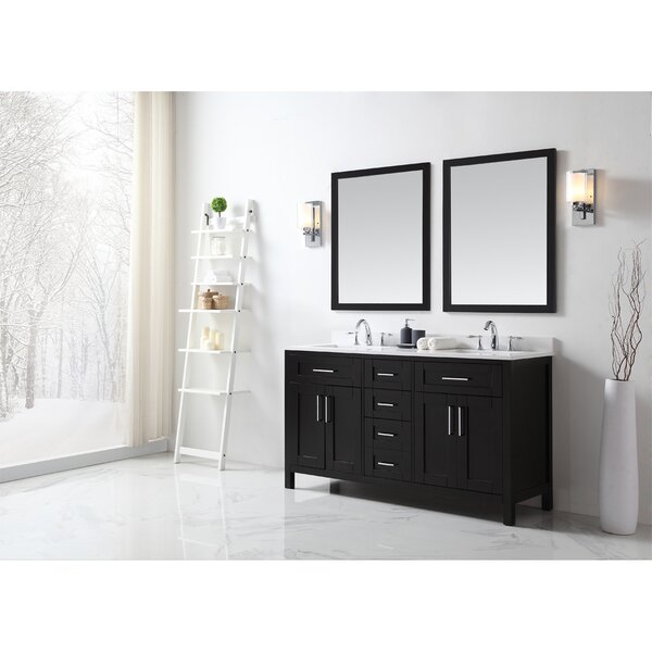 Tahoe 60 Double Bathroom Vanity Set with Mirror by Ove Decors