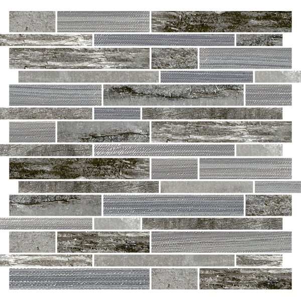 Docklight 12 x 12 Porcelain Mosaic Tile in Wind by Parvatile