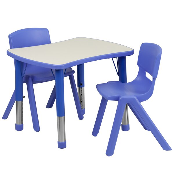 3 Piece Rectangular Activity Table & 20 Chair Set by Flash Furniture