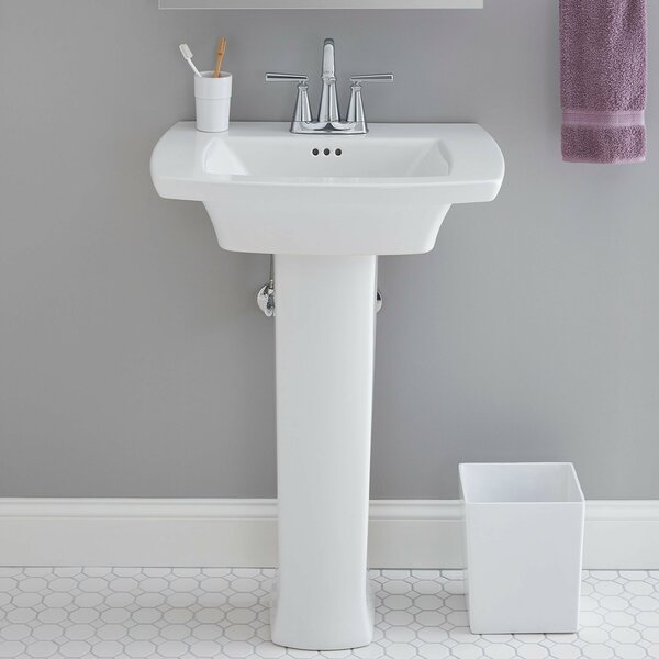 Edgemere Rectangular Pedestal Bathroom Sink with Overflow by American Standard